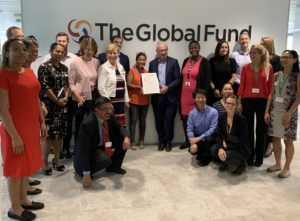 The Global Fund Ceremony
